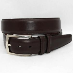 Torino Leather Italian Burnished Calf Belt - Brown Image