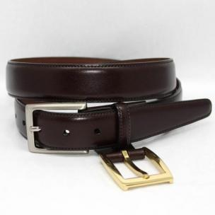 Torino Leather Kipskin Belt  Double Buckle Option - Brown Image