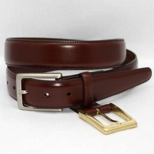 Torino Leather Kipskin Belt Double Buckle Option - Honey Image