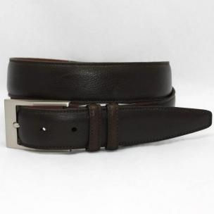 Torino Leather Soft Deer Tan Tumbled Glove Belt - Brown Image