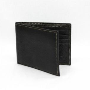 Torino Leather Tumbled Calf Billfold - Black Image