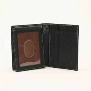 Torino Leather Tumbled L-fold Wallet - Black Image