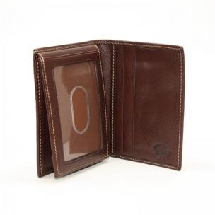 Torino Leather Tumbled L-Fold Wallet - Brown Image