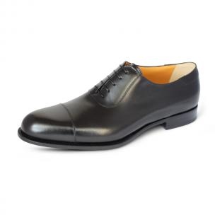 A. Testoni Cap Toe Oxfords Black Image