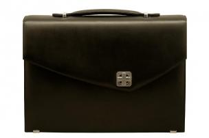 Aaron Irvin Single Gusset Flap Briefcase Image