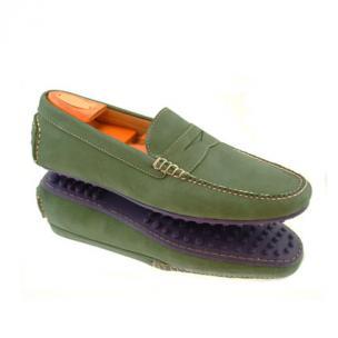 Alan Payne Carrara Nubuck Driving Shoes Green Image