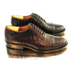 Alan Payne Crawford Alligator Cap Toe Shoes Image