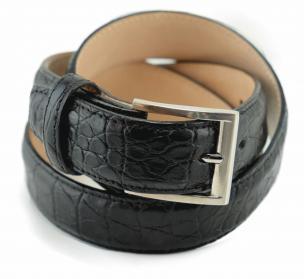 Alan Payne Crocodile Belt Black Image