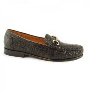 Alan Payne Mauricio Crocodile Bit Loafers Black Image