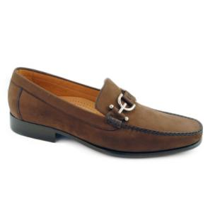 Alan Payne Dario Nubuck Bit Loafers Brown Image