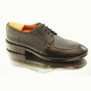 Alan Payne Wimbley Deerskin Split Toe Shoes Black Image
