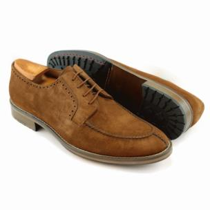 Alan Payne Wimbley Suede Split Toe Shoes Snuff Image