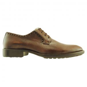 Alan Payne Woolf Deerskin Lace Up Shoes Tobacco Image