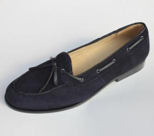 Alan Payne Vino Suede Twist Tie Loafers Navy Image