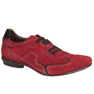 Bacco Bucci Adria Suede Casual Shoes Brick Image