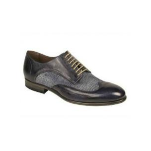 Bacco Bucci Agata Wingtip Spectator Shoes Blue Image
