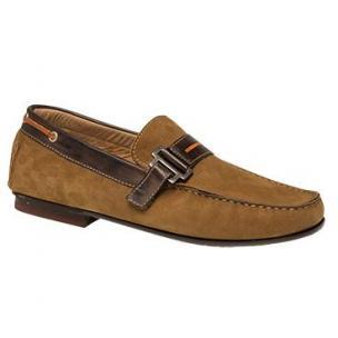 Bacco Bucci Altieri Nubuck Strap Loafers Cognac Image
