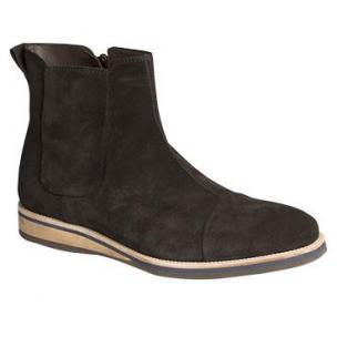 Bacco Bucci Borsetti Suede Boots Black Image