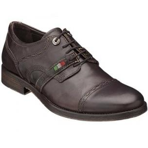 Bacco Bucci Brancato Cap Toe Shoes Dark Brown Image