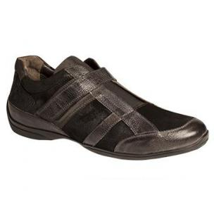 Bacco Bucci Buffon Crossover Slip On Sneakers Black Image