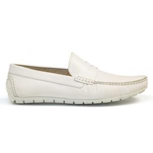 Bacco Bucci Capi Calfskin Loafers White Image