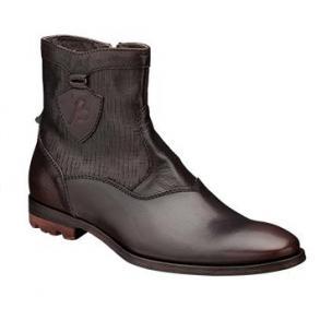 Bacco Bucci Devito Side Zipper Boots Brown Image