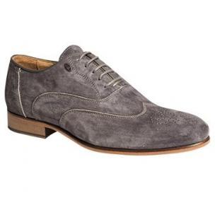 Bacco Bucci Duca Suede Wingtip Oxfords Gray Image
