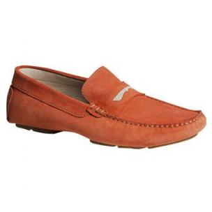Bacco Bucci Elio Suede Driving Shoes Mango Image