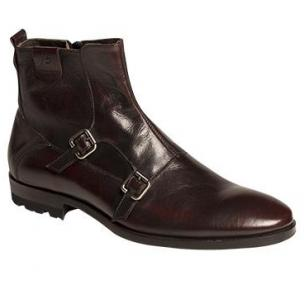 Bacco Bucci Fabbiano Double Strap Boots Black Image