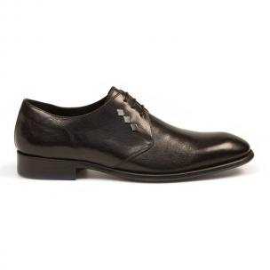 Bacco Bucci Giulio Calfskin Shoes Black Image