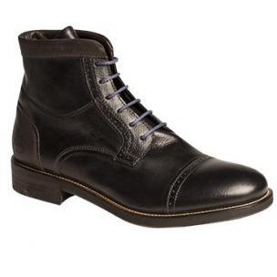 Bacco Bucci Lorenzi Cap Toe Boots Black Image