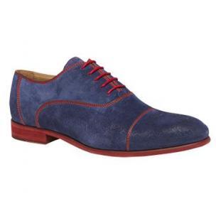 Bacco Bucci Orsino Suede Cap Toe Shoes Blue Image