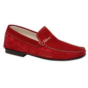 Bacco Bucci Otto Suede Loafers Red Image
