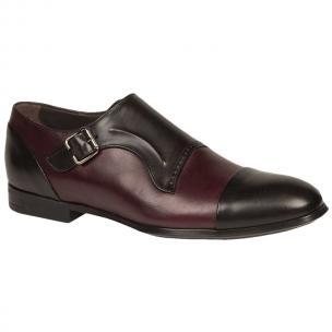 Bacco Bucci Pinelli Shoes Black Burgundy Image
