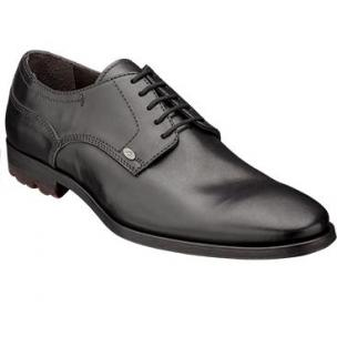 Bacco Bucci Rizzo Plain Toe Derby Shoes Black Image