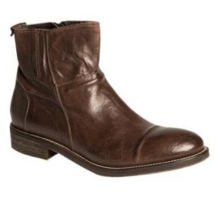 Bacco Bucci Seppi Cap Toe Zipper Boots Brown Image
