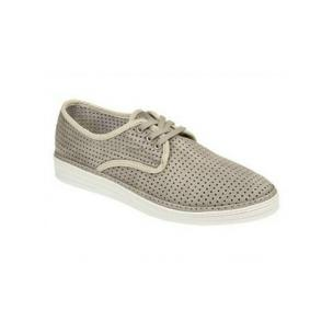 Bacco Bucci Tola Perforated Suede Shoes Grey Image