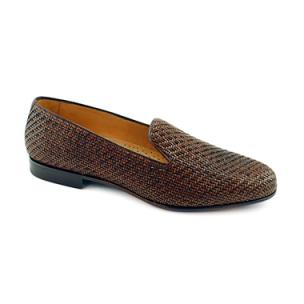 Baker Benjes Simpson Woven Shoes Cognac Image