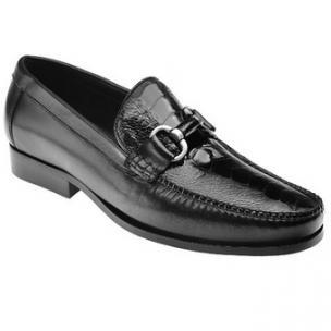 Belvedere Ostrich Leg Bit Loafers Black Image