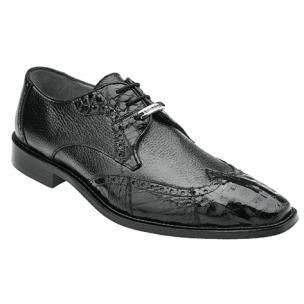 Belvedere Amato Calfskin & Crocodile Wingtip Brogues Black Image