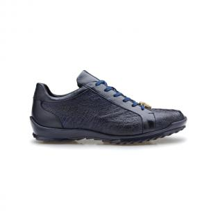 Belvedere Arena Ostrich & Calfskin Sneakers Night Blue Image