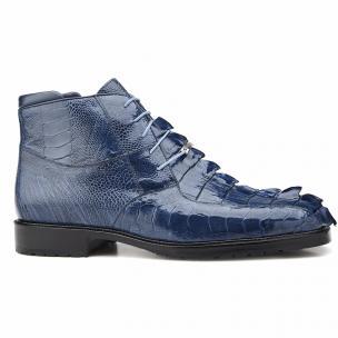 Belvedere Barone Hornback & Ostrich Boots Blue Jean Image