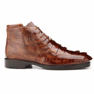 Belvedere Barone Hornback & Ostrich Boots Brandy / Antique Brown Image