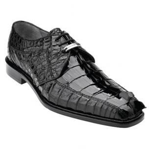 Belvedere Colombo Hornback Crocodile Shoes Black Image
