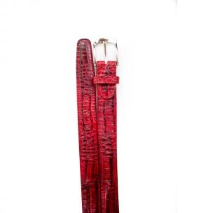 Belvedere Crocodile Belt Antique Red Image