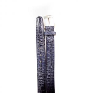 Belvedere Crocodile Belt Navy Image