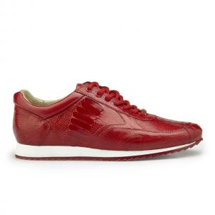 Belvedere Dayton Ostrich Leg Sneakers Red Image