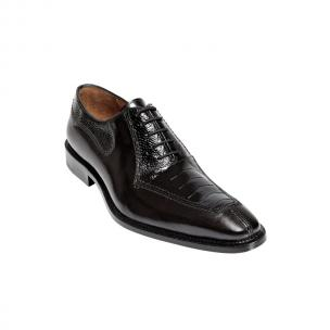 Belvedere Dino Ostrich & Calfskin Shoes Black Image
