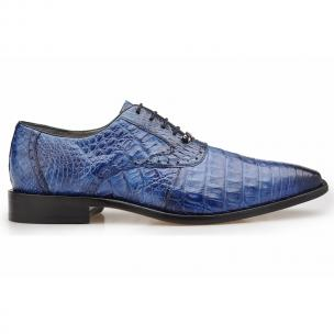 Belvedere Edo Crocodile Oxfords Antique Navy Image