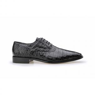 Belvedere Edo Crocodile Oxfords Black Image
